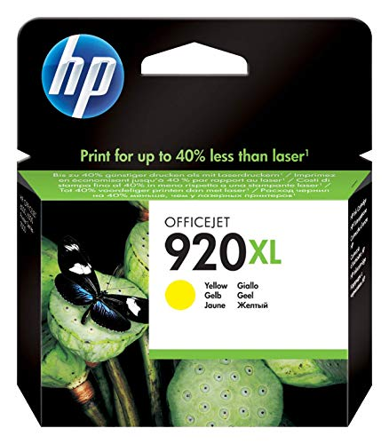HP 920XL CD974AE Cartuccia Originale, ad Elevata Capacità, da 700 Pagine, Compatibile con le Stampanti a Getto d'Inchiostro HP Officejet Serie 6000 e 7000 Wide, Giallo
