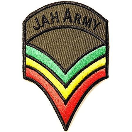 Bob Marley Jamaica Reggae Patch: Sew or Iron on Badge Rasta Music