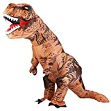 Lulu Home Halloween Dinosaur Costume, 6.5 FT Inflatable T-Rex Dinosaur Costume for Adults, Brown