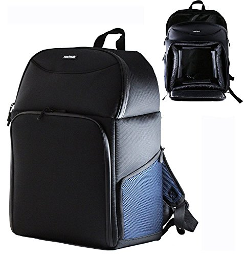 Navitech Rugged Black & Blue Carry Backpack/Rucksack/Case Compatible with TheThe Power Vision Power Dolphin Drone