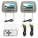 KIMISS 2 pezzi 7 in HD per auto poggiatesta schermo largo Lettore video LCD Telecomando wi...