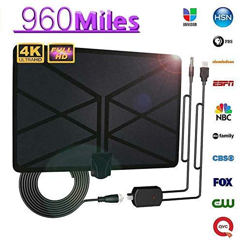 MongKok 960 mijle rekantenne televisietoestel, digitale 4K HD Digital Interieur-HDTV 1080P Skywire antenne
