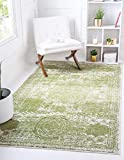 Unique Loom Bromley Collection Vintage Traditional Area Rug, 5 x 8 Feet, Green/Ivory