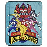 Power Rangers Mighty Morphin Throw Throw Blanket (Multicolor)