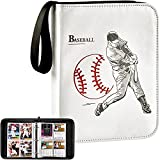 Baseball Card Binder Trading Cards Sleeves Protectors Holder for Topps 2021, 440 Pockets Football Sports Cards Album Also for Pokemon/ MTG, Display Storage Collection Case - White
