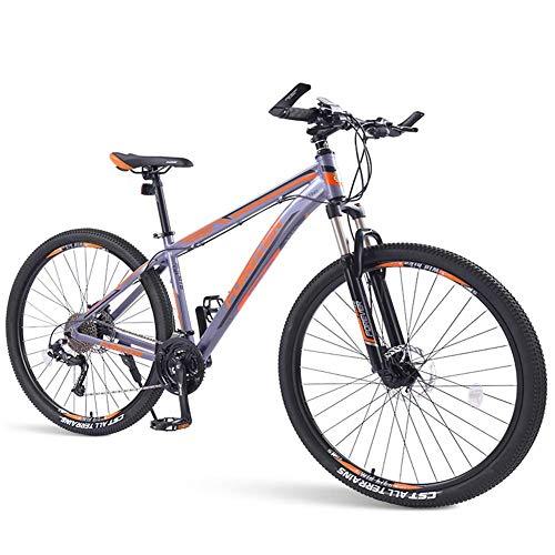 GJZM Mountain Bike da Uomo Mountain Bike, Mountain Bike Hardtail 33 velocità, Telaio in Alluminio con Doppio Freno a Disco, Bicicletta da Montagna con Sospensione Anteriore, Verde, 29 Pollici