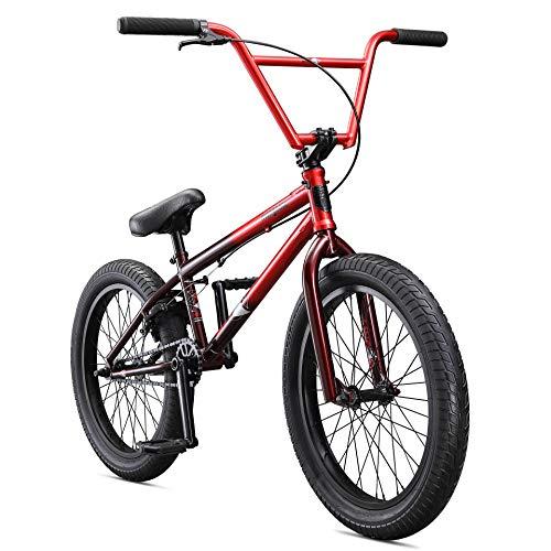 Mongoose Legion L80 Freestyle BMX Bike Line för nybörjarnivå till avancerade ryttare, stålram, 20-tums hjul, röd