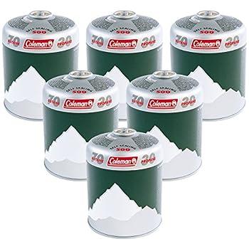 ColemanC500 Pack de 6Cartouches de gaz, 6xCartouches à Valve vissables, Cartouches de gaz pour réchauds, barbecues ou Lampes, mélange Haute Performance de Butane et Propane.