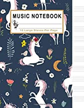 Music Notebook: 10 Large Staves Per Page: Unicorn Blank Sheet Music Manuscript Paper, 130 Pages of Staff Paper, Musicians Notebook, Music Journal, Songwriting (Music Life)