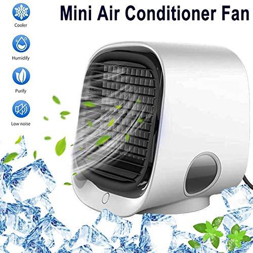 YGTMV Nuevo Mini Ventilador De Aire Ionizado Negativo,Multifuncional USB Ventilador De Aire Acondicionado De Escritorio para Portátil Pequeño Ventilador del Hogar