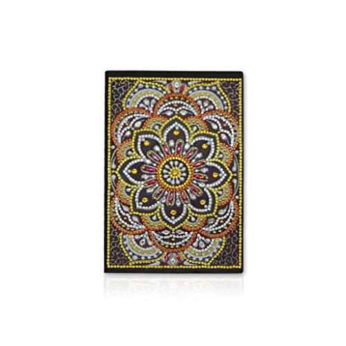 VIccoo Cuaderno, Flor DIY Diamante Pintura Especial en Forma de Cuaderno Diario Libro A5 Bordado Punto de Cruz Regalo de artesanía - 30
