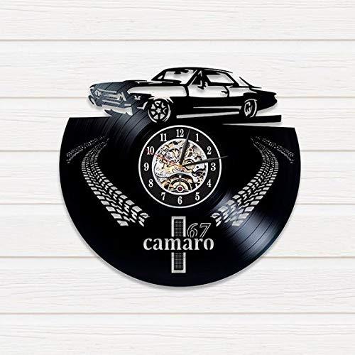 FANCYLIFE Chevrolet Camaro Schallplatte Wanduhr