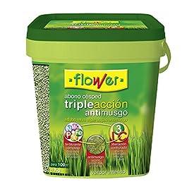 Flower 10733 Engrais pour Gazon Triple Action et Anti-Mousse 4kg