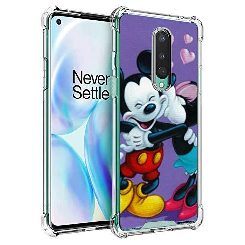 DISNEY COLLECTION Funda transparente diseñada para 1+8 protección antigolpes con Mickey Mouse Minnie Happy Valentine's Day Case for 1+8