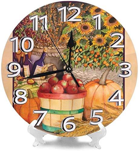 XXSCXXSC Reloj de Pared Relojes de Escritorio de Bienvenida Amarillos Decorativos para Oficina Dormitorio Creatividad precisa