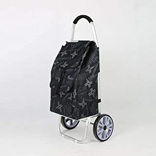 LQBDJPYS Lightweight Shopping Trolley Collapsible Travel Storage Cart Grocery Luggage Bag Folding Luggage Bags (Color : Bl...