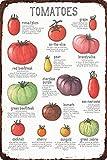 Vintage-Blechschild mit Tomaten, Gemüse, Obst,