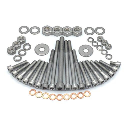 MZ ETZ 250 Moteur Roue Vis à six pans creux en acier inoxydable V2 A, 52 pièces