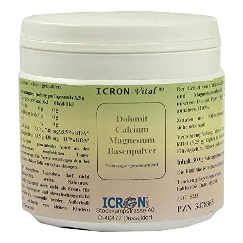 ICRON-Vital Dolomit Calcium Magnesium Basenpulver, 300 g Polvo
