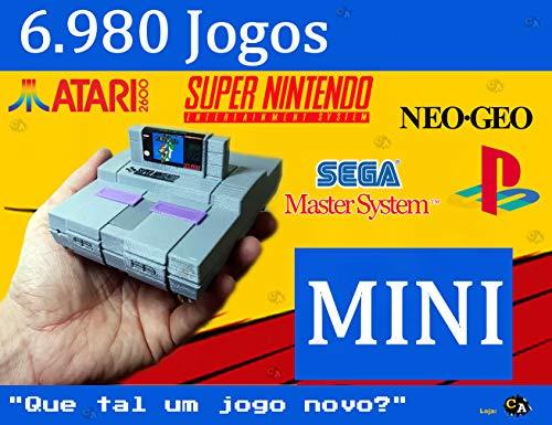 Mini Super Nintendo Retro com 7500 Jogos