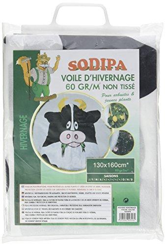 Sodipa 06278 Vache Voile d'Hivernage Blanc 130 x 160 cm