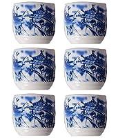 絶妙なブラックテンプテーションセラミック日本ワインカップ6個入りパック