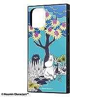 iPhone 12 mini 背面は割れにくいアクリル素材 ハイブリッド キャラクター スクエア ケース ムーミン moomin コミック 2