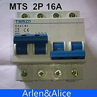 FidgetKute 2P 16A MTS Dual Power Manual Transfer Switch Circuit Breaker MCB 400 Show One Size