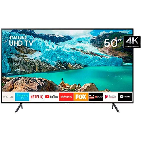 Smart TV LED 50' 4K UHD Samsung 50RU7100, 3 HDMI, 2 USB, Premium HDR e Wi-fi