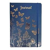 A5ジャーナルノート ギフトステーショナリー 蝶柄 ブルー プレゼント 贈り物 文具 イギリス 輸入雑貨