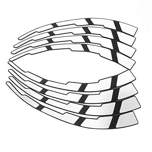 beeyuk Pegatinas para Neumáticos - 8X Etiqueta Engomada para Coche Impermeable, Etiquetas Engomadas para Llantas - Etiqueta Personalizada para La Rueda De Peinado De Autos