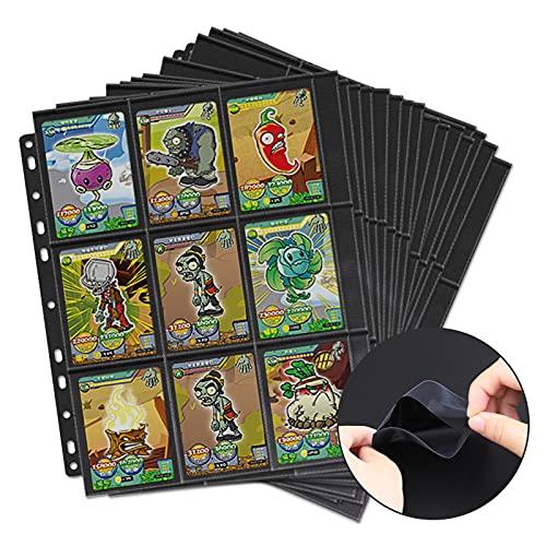 Moocuca Leere Sammelalbum, 630 Pockets Sammelkarten, 35 Seiten Pro 18-Pocket Taschen Sammelkarten Folien, Taschen auf beiden Seiten jeder Seite, Leere Sammelmappe für eine Vielzahl von Ringbücher