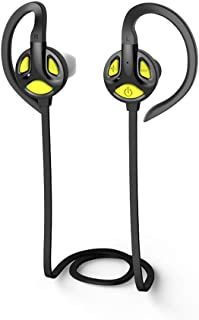 GLJJQMY Sports Binaural Bluetooth Headset 4.1 Stereo Bluetooth Earphone (Color : Yellow)