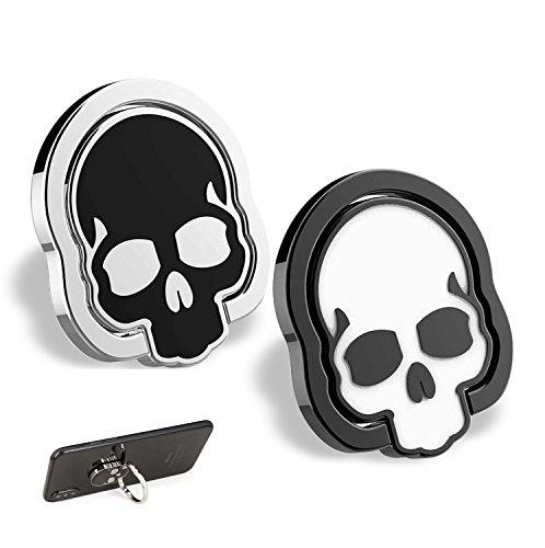 homEdge Agarre del Anillo del cráneo del teléfono Celular, 2 Paquetes de 360 ° Soporte de Anillo de Dedo Ajustable, Adecuado para el Soporte magnético de Montaje para automóvil para teléfono Celular