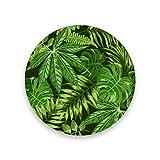 Montoj - Posavasos con diseño de marihuana verde y hojas de palma para bebidas, regalo único para amigos, posavasos absorbentes para bebidas, madera, 1, 4 pieces set
