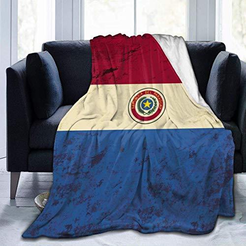 LOVE GIRL Manta de Franela Personalizada con Bandera paraguaya Vintage, Manta de Microfibra Ultra Suave para sofá Cama y sofá