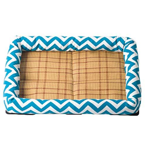 Mingdoo Gemütlich Hundebett Atmungsaktiv Katzen Hundesofa Sommer Reversibel Hundematten Schlafplätzen - Himmelblau, XL