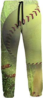 NTQFY Softball Court Men's Sweatpants Comfy Jogger Pants with Pockets Lightweight Athletic Pant