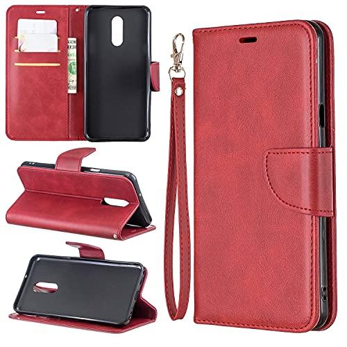 Cubierta de la caja del tirón del teléfono Estuche para LG Stylo 5 Multifuncional Cartera Teléfono Móvil Caja de cuero Premium Color Sólido PU Caja de cuero, Titular de la tarjeta de crédito Función F