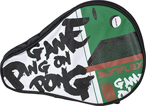Sunflex Tischtennishülle passend für einen Schläger und drei Bälle aus hochwertigem Nylon Material
