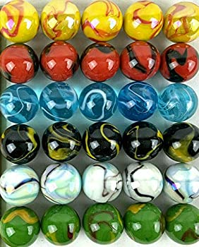 Big Game ~Large 30 Deluxe 1   25mm  Replacement Marbles Aggravation Wahoo Dirty Marbles Chinese Checker Board Game Glass