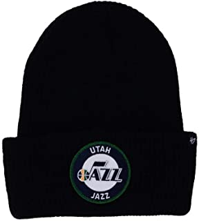 5ff5ccf7a3e58  47 Brand Black Ice Block Cuff Beanie Hat - NBA Cuffed Winter Knit Toque  Cap.