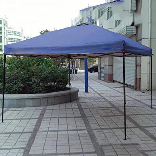 Gazebo WYZQQ Outdoor Pop-Up Tent, Draagbare luifel, Instant Folding Party Tent, Auto Shelter Bruiloft Party Easy Pop Up, Zilver Kunststof Zonnebranddoek, Roestvrij Staal Beugel blue Beige