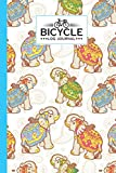 Bicycle Log Journal: Indian Elephant Bicycle Log Journal: Training Notebook For Cyclists & Cycling Enthusiasts, 120 Pages, Size 6' x 9'