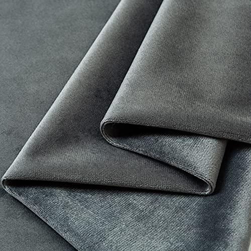 FFJD Telas Costura- El Tejido De Terciopelo De Estiramiento Es De 61'Pulgadas De Ancho, Tela De Terciopelo para Coser(Color:Gris)