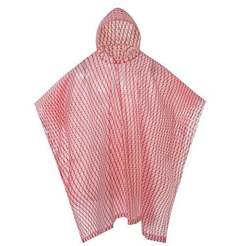 Mesdames en Plein air Voyage randonnée Poncho Mode épais EVA Raincoat Parapluie (Color : Red, Size : One Size)