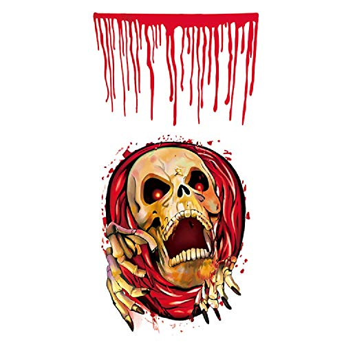 Richboom Halloween Toilet Seat Cover Sticker, Closestool Toilet Wall Decal for Home Decoration (Skull)