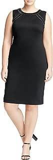 Calvin Klein Women's Plus Size Rhinestone Scuba Sheath Dress
