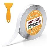Opret Cinta Antideslizantes para Bañera y Ducha 10m x 25mm Tiras Antideslizantes Transparentes Adhensive Pegatinas Antideslizantes con Raspador