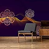 3D Fotomurales Papel pintado Flor de oro negro No Tejido Murales Moderna Diseño Póster Salón Dormitorio TV Telón de Fondo Pared Hogar Decoración 300x210 cm